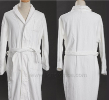 Hotel/Resorts Cotton Velours Toweling Bath Gown