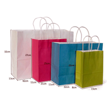 Custom paper bags with colorful print logo for shopping