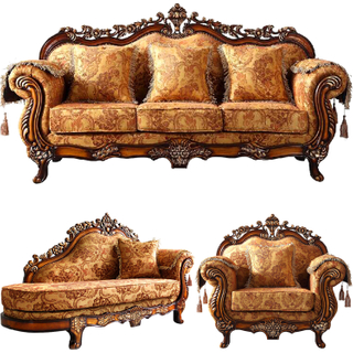 929Y Antique Fabric Sofa with Coffee Table for Living Room Furniture