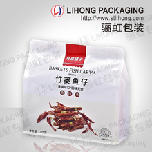 Wholesale Snack Food Storage Compound Flat Bottom Plastic Ziplock Bag