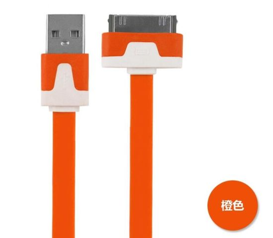 Flat Noodle Cable for iPhone 4