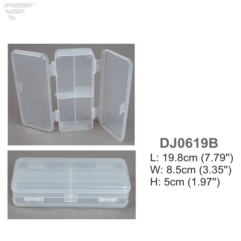 DJ0619A/B Transparent Double Side Fishing Tackle Box