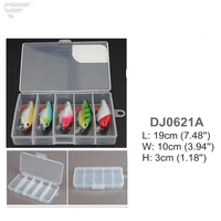 DJ0621 A/B/C/D/E Transparent Lure Box 5 Compartment Box