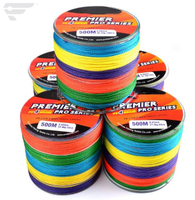 500M/546Yards Super Strong Braided Fishing Line multi color 4 Strands Fishing line