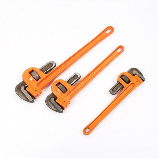 Hand Tools Double Rubble Handle Bent Nose Pipe Wrench