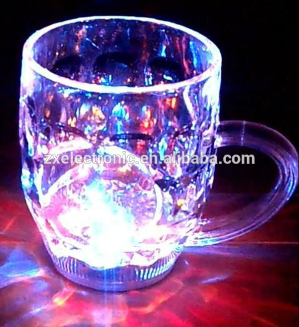 Customized sound plastic cup led flashing cup for promotion and gift