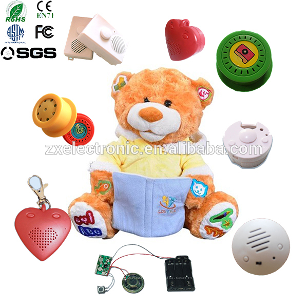 Customized pull string recordable sound box for plush toys