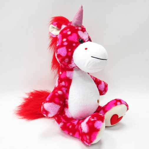 New Arrival Valentine Plush Soft Red Unicorn Soft Toys