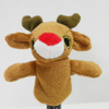 Plush Stuffed Toy Reindeer Finger Puppet for Kids