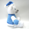 Soft Stuffed Plush Christmas White Teddy Bear with Clothes