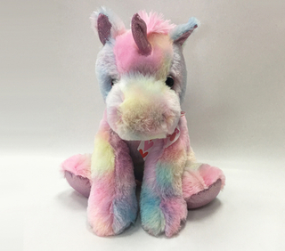 Custom Valentines Large Plush Colorful Unicorn Animal Stuffed Toy