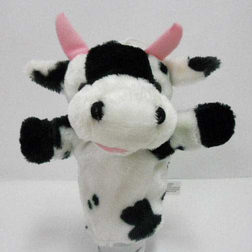 Plush Stuffed Toy Cow Hand Puppet for Kids