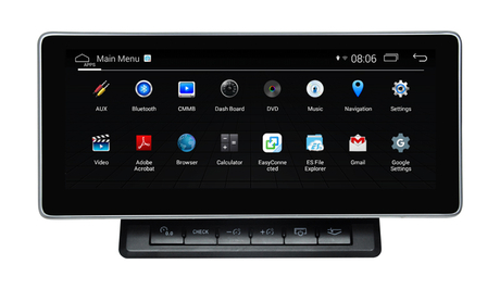 "Audi Q7 MMI 2G 3G Andoid Multimedia Car Dvd Players 10.25""Blu-ray Anti-Glare DVR /3G/AUX Screen Mirroring"