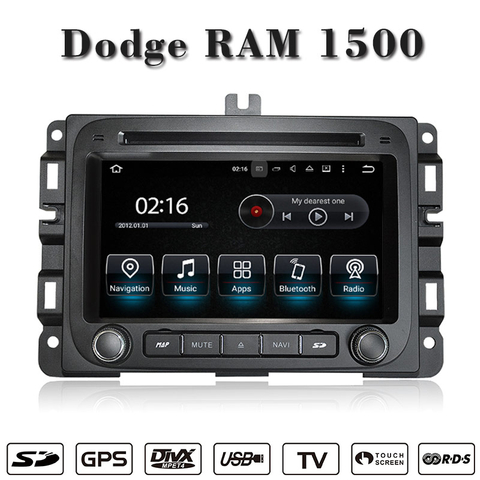 Android 5.1/1.6 GHZ CAR DVD GPS for Dodge RAM 1500 car audio player