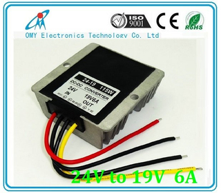 24V drop to 19V 6A 10A 15A step down Aluminum alloy shell IP65 waterproof dc dc converter power converter