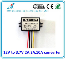 12V step down 3.7V 2A/3A/6A/10A ABS Plastic IP65 waterproof dc dc converter power converter