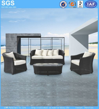 American Style Modern Design Outdor Garden Furniture Black Rattan Sofa Set