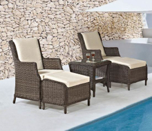 Garden Wicker/Rattan Furniture Set Table and Chair (LN-2121)