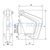 Horizontal Lifting Clamp, Item Code: 112### (Capacity: 1000-10000 kg)