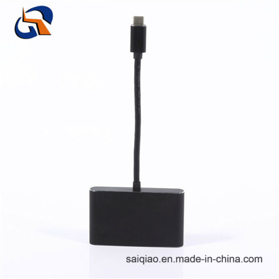 4 in 1 Type C Hub Including USB3.0 Af*3+Pd