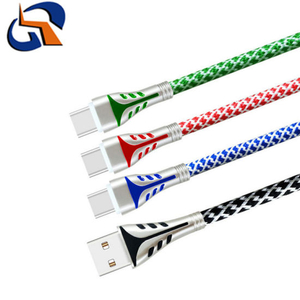 USB Zinc Alloy Braided USB Charging Data Cable for Huawei (Type-c)