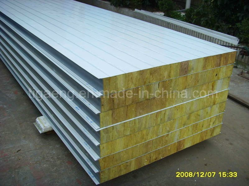 Fireproof Insulated Color Steel Rock Wool Sandwich Panels Factory Price