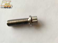 Aerospace Grade Ti6Al4V Titanium 12 Point Head and Double hex Cap Screw with Flange M8x35mm Apply to bicycle,motorcycle