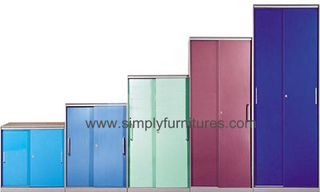 colorful roller shutter door cabinet