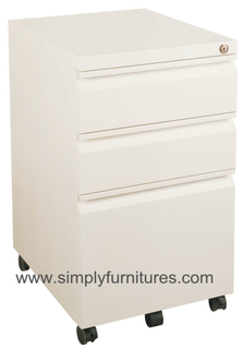 3 drawers mobile steel cabinet