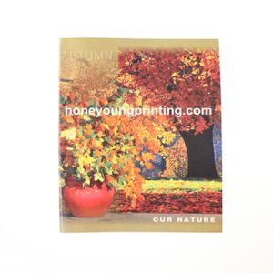 Square exercise book with margin season theme
