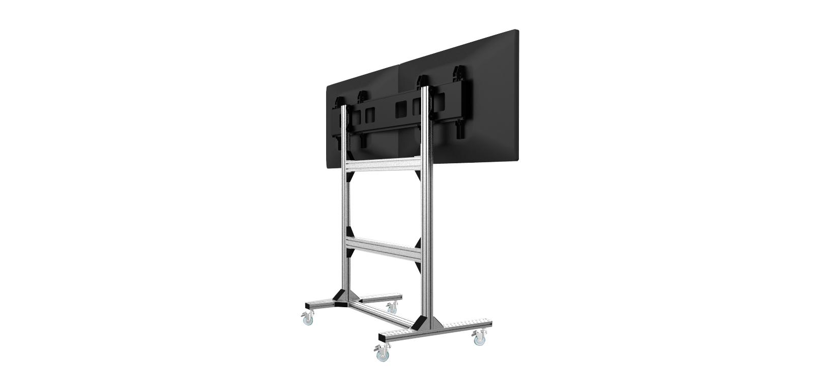 产品 落地电视支架 通用型适配2x2 电视机墙可移动落地展示架  这款高