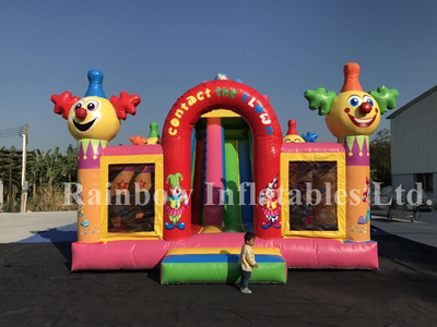 RB4040( 6x6x5.3m ) Inflatables Clown Theme Jumping Funcity Bouncer with Slide