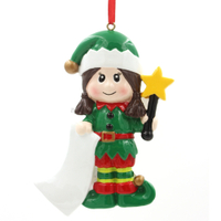 Elf Girl Ornament Personalized Christmas Tree Ornament