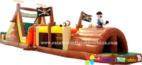 RB5055(15.8x3x4.57m) Inflatable New design pirate obstacle bouncer castle inflatable with slide