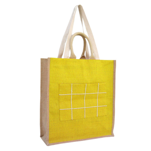 Fashionable Jute Shopping Bag with Cotton Handle and Strap