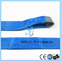 Safety Factor 7:1 240mm Width 8T Double Ply Polyester Webbing Sling