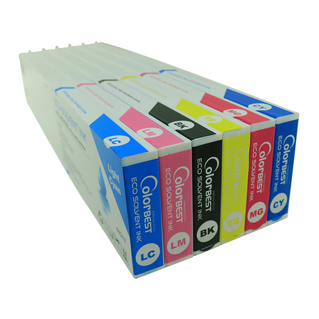 6colors/set 440ml Eco Solvent Ink Cartridge Full Ink Tank with Chip for Roland Printer