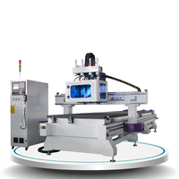 Pneumatic ATC CNC Router Machine Acut-1325-double bed