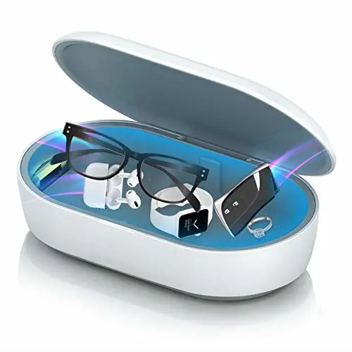 UV Light Box Money Phone Mask Fast Sterilization Portable UVC Disinfection Light Box Indoor/Outdoor ABS UV Sanitizer Box