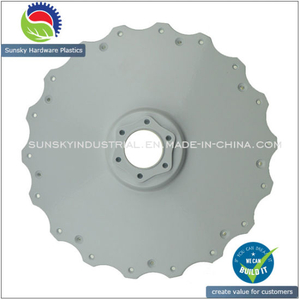 White Powder Coating Die Casting Part for E-Bike (AL12132)