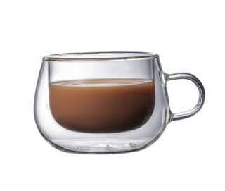 Double wall glass mug,coffee mugs,heat resistant,pyrex glass ,food grade,BPA free