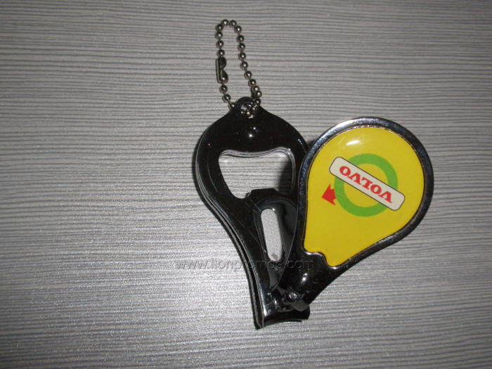Car Logo Promotional Giveaways Items Nail Clipper with Beer Bottle Opener
