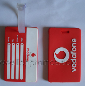 Vodafone Logo Telcom Promotional Gift Soft Rubber PVC Luggage Tag