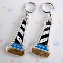 True Sand Travel Gifts Light House Shape Acrylic Key Chain