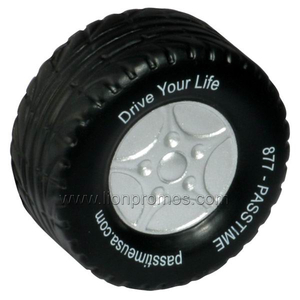 Customized Tyre Shape Car Promotional Gift PU Model