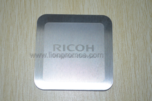 RICOH Company Loo Office Square Stainless Steel Metal Coaster