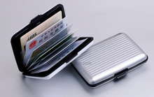 Luggage Case Shape Aluminum Card Holder