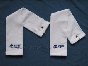 Telecom Custom Logo Embroidery Cotton Velvet Golf Towel