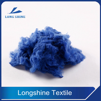 Royal Blue Polyester Staple Fiber For Spinning Manufacture
