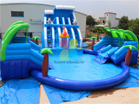 RB32017(Dia 15m) Inflatable giant water park with slide for children and adult hot sale